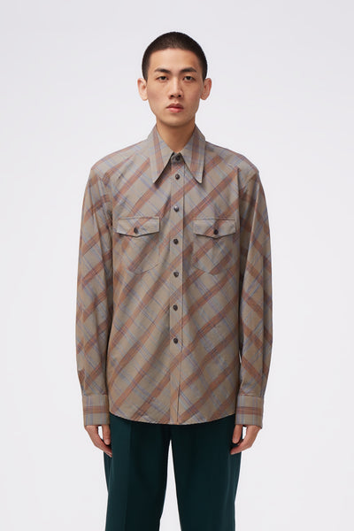 Lemaire - Western LS Shirt Grey Check