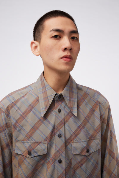 Western LS Shirt Grey Check