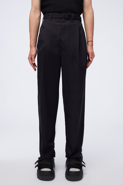 Lemaire - Belted Pleat Pants Caviar