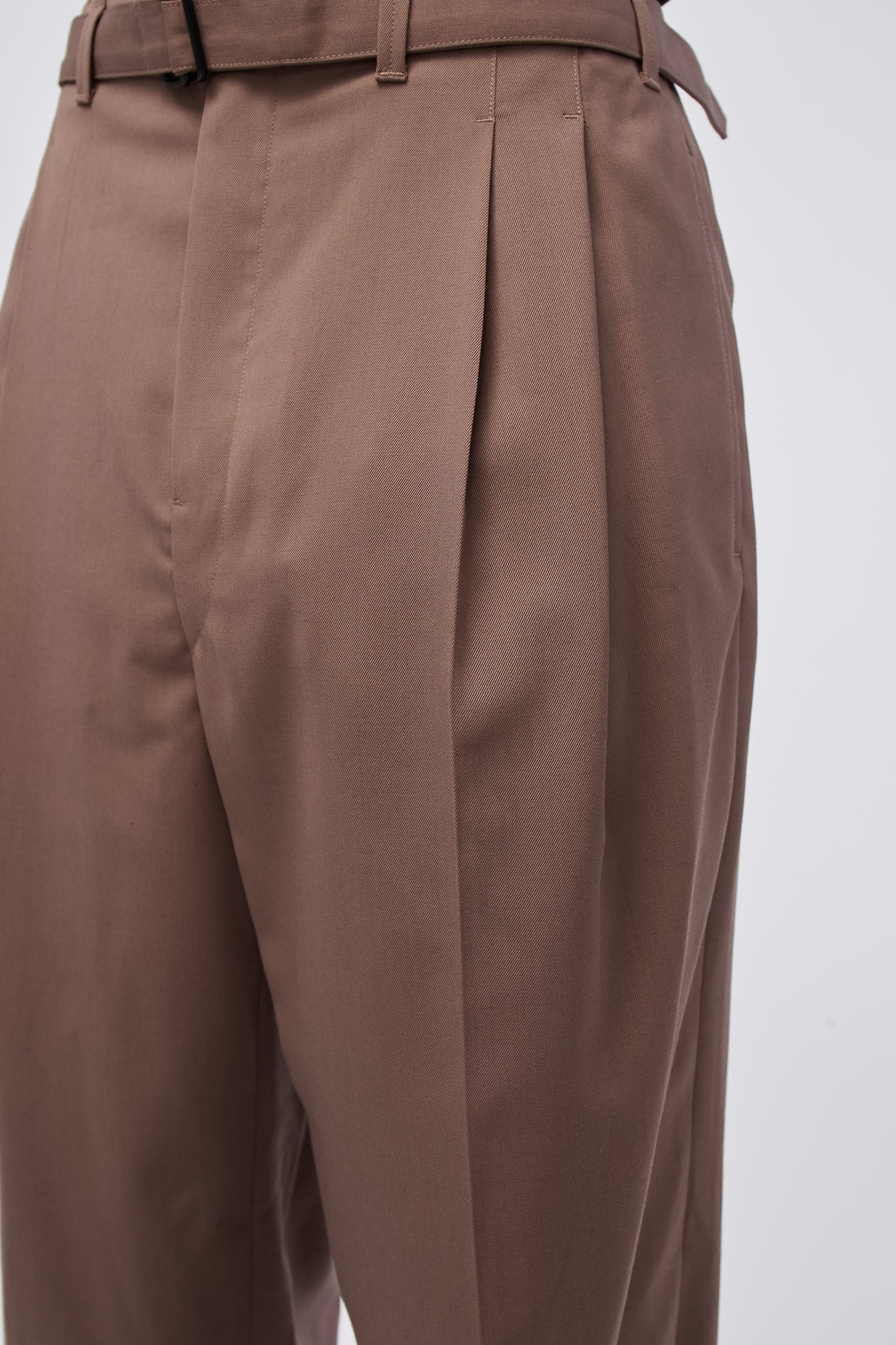 Belted Pleat Pants Iron