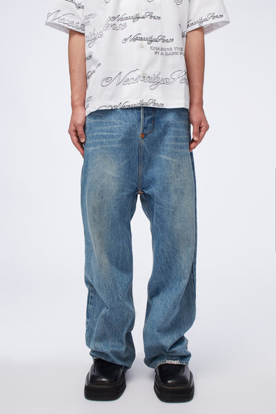 Act Of Desire - Wego Wide Work Jeans Sky Blue Indigo Wash
