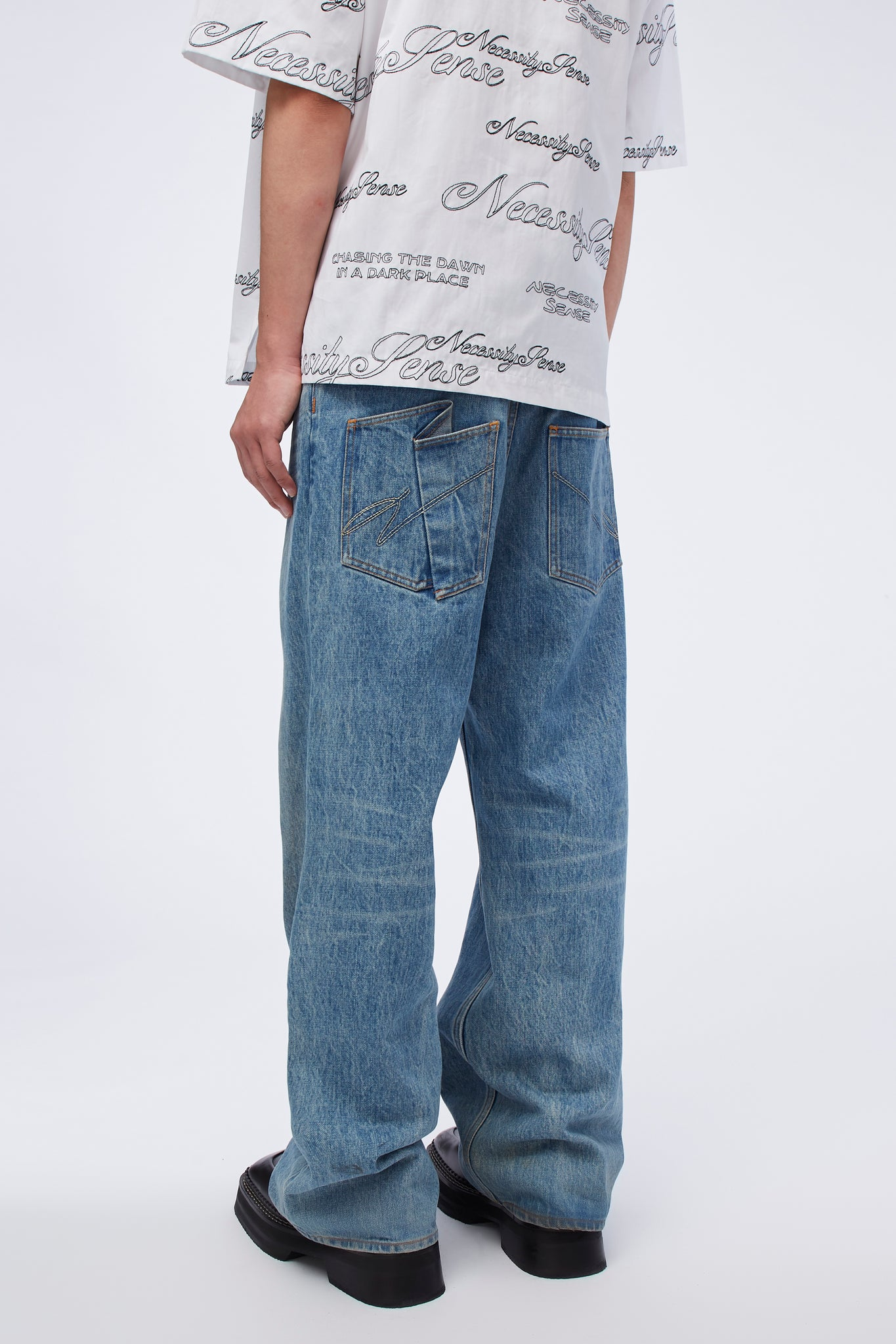 Wego Wide Work Jeans Sky Blue Indigo Wash