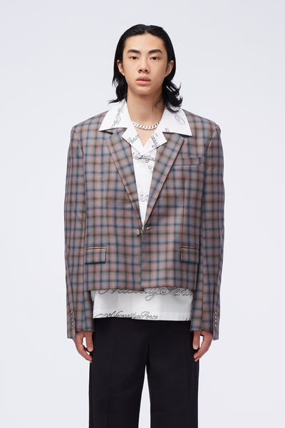 Act Of Desire - Gen Dropped Collar Suit Illusional Tartan Check