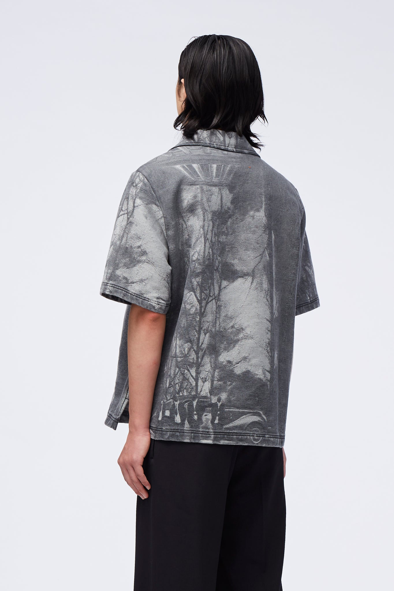 Bali SS Work Shirt Jacquard Oil Painting Grey
