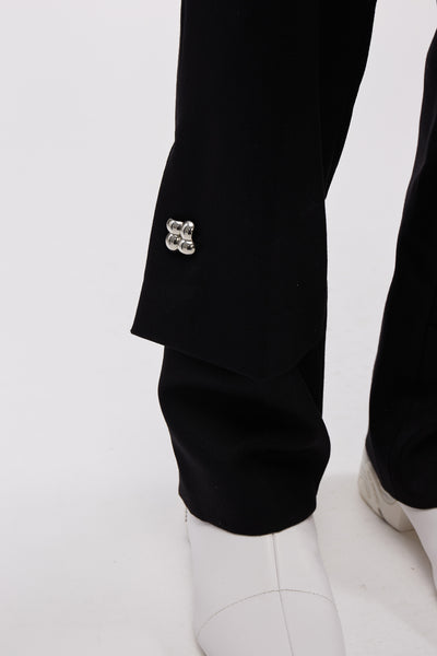 Hirse Flap Trousers Black