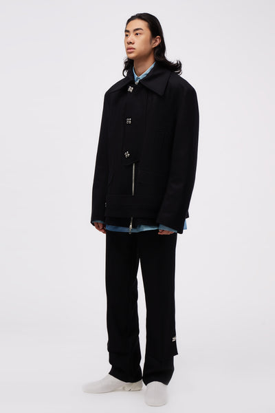 Larrabee Placket Jacket Black
