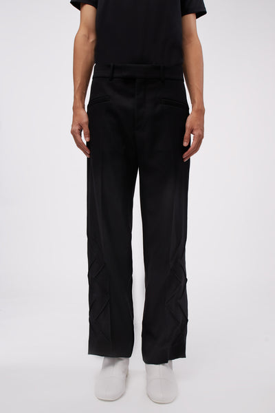 NAMACHEKO - Thorwaldzigzag Trousers Black
