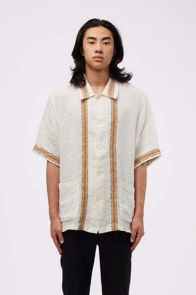 Our Legacy - Elder Shirt Short Sleeve White Rough Sack