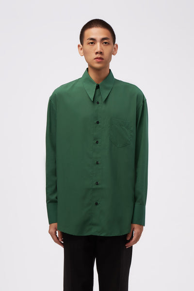 Ernest W. Baker - Sharp Collar Shirt Green