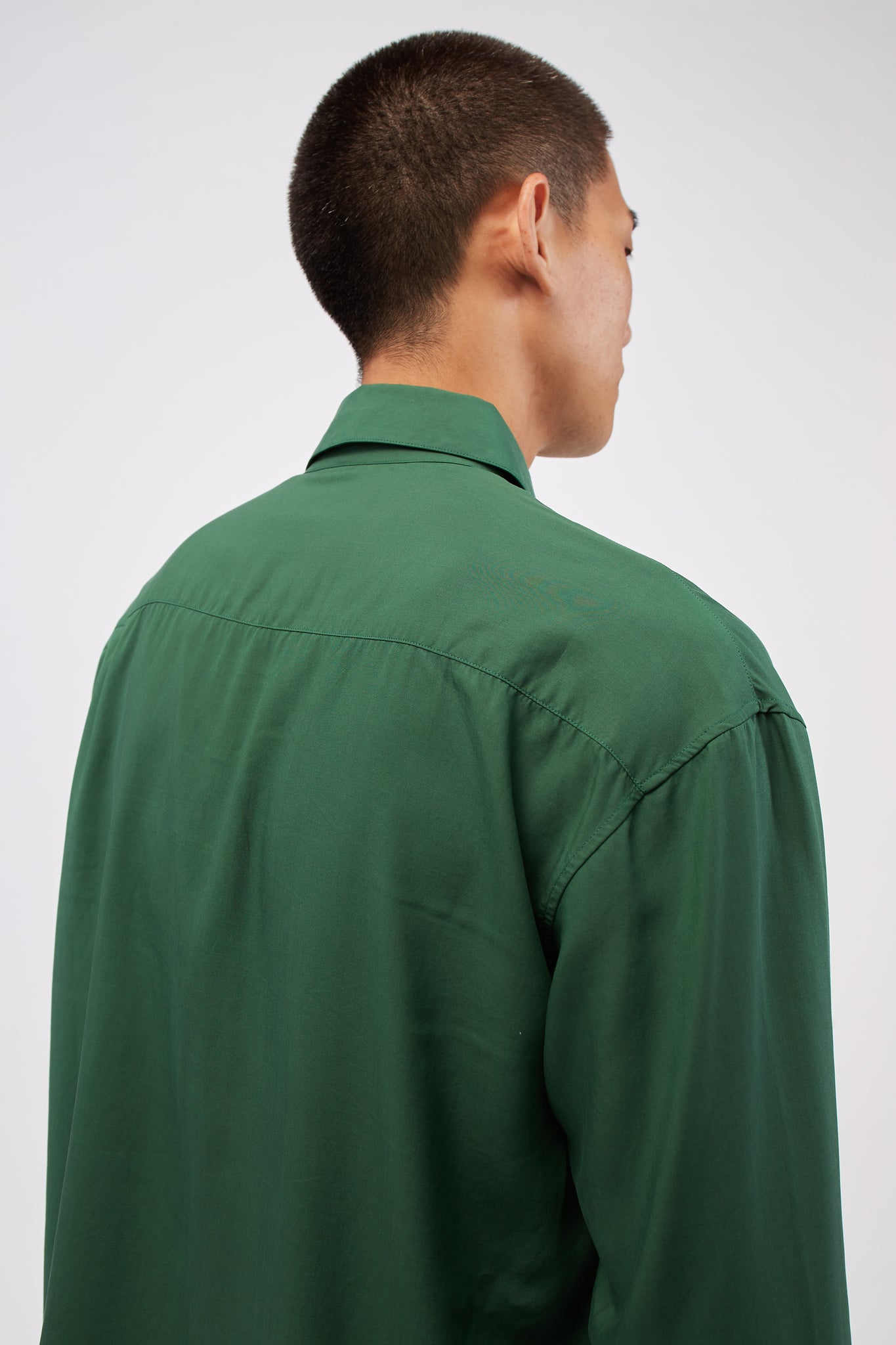 Sharp Collar Shirt Green