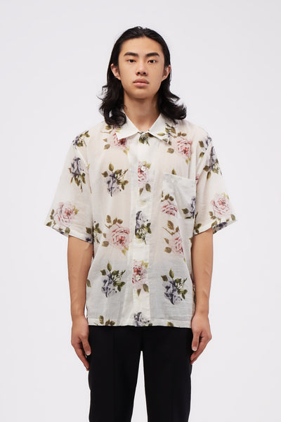 Our Legacy - Box Shirt Short sleeve Rose Print