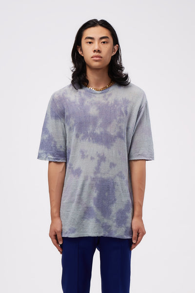 Our Legacy - Knitted Box Tee Sky Tie Dye Linen