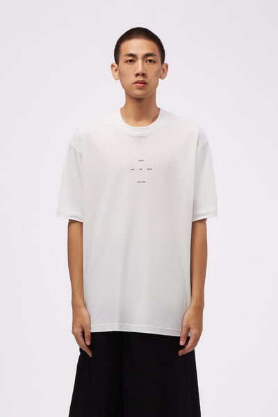 Song for the mute - Logo DJEBEL Oversized Tee White