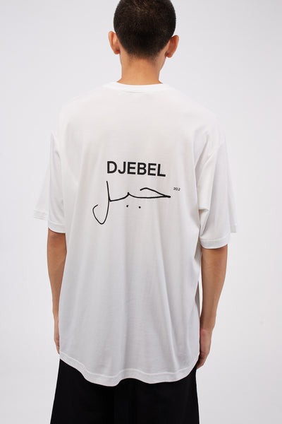 Logo DJEBEL Oversized Tee White