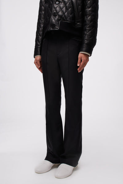 Flare Trousers Black