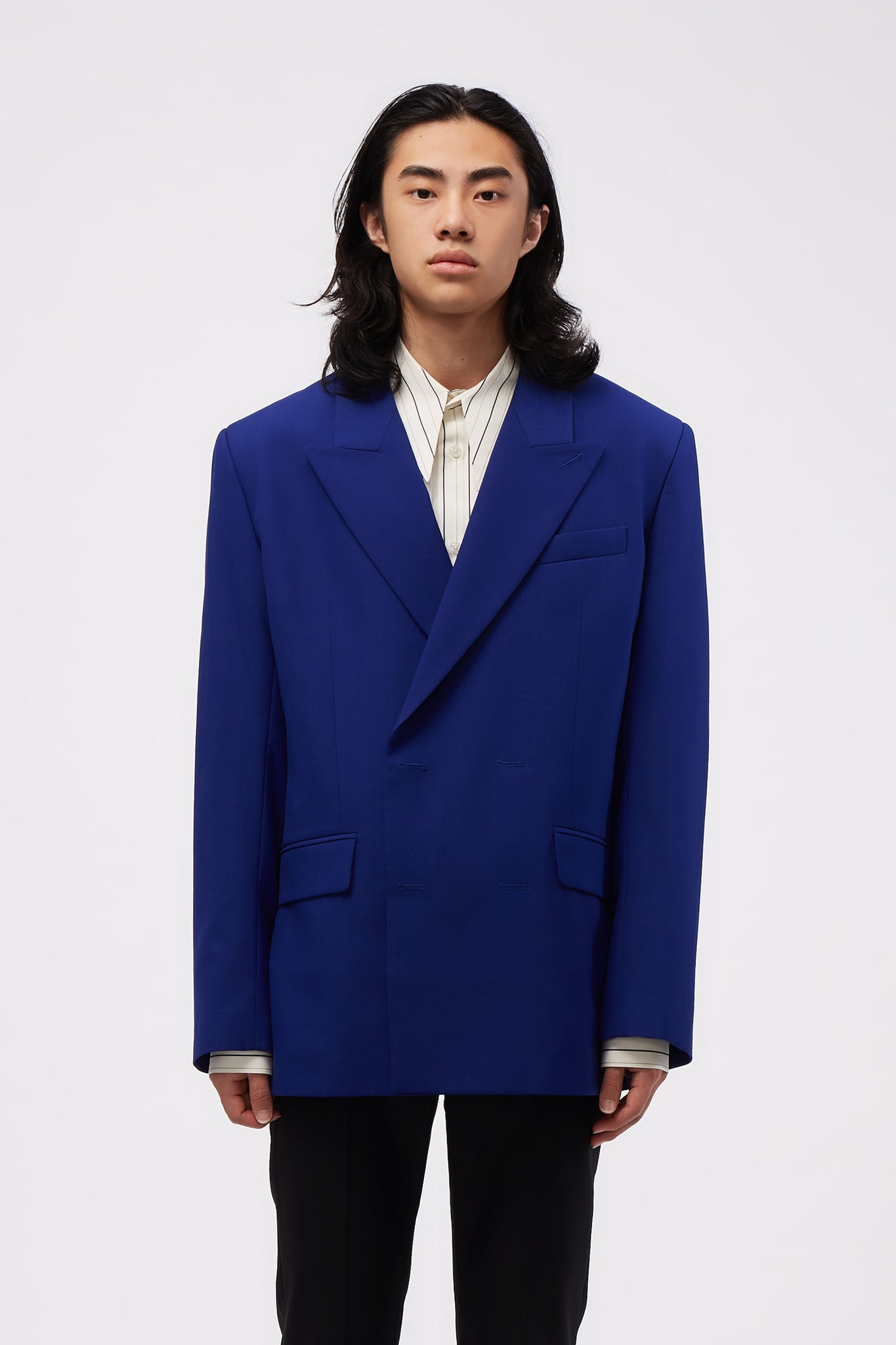 Double Breasted Blazer Cobalt Blue