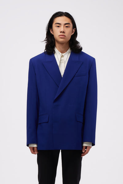 Ernest W. Baker - Double Breasted Blazer Cobalt Blue