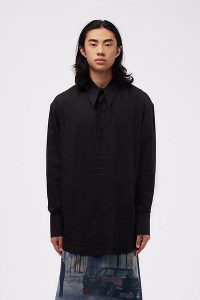 Ernest W. Baker - Sharp Collar Shirt Black