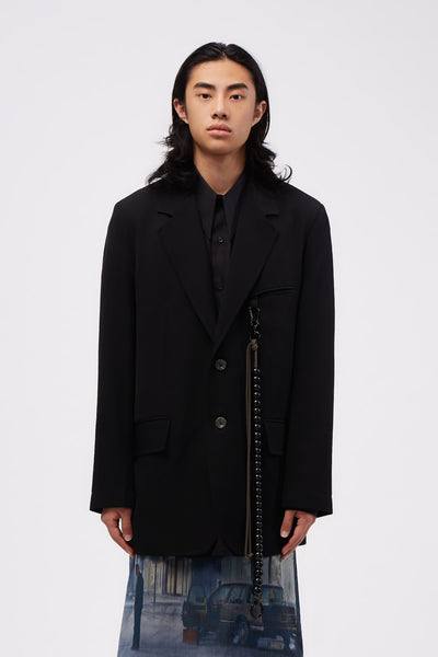Song for the mute - Script Oversized Blazer Black