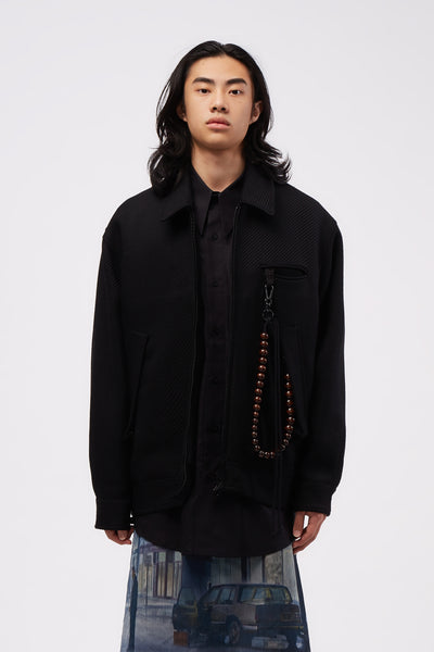 Song for the mute - Oversized Coach Jacket Black