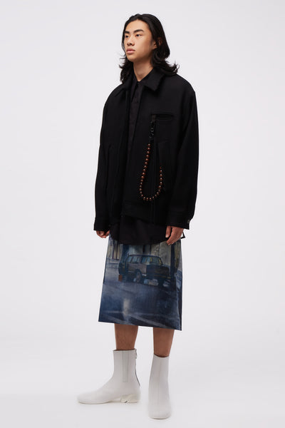 Oversized Coach Jacket Black