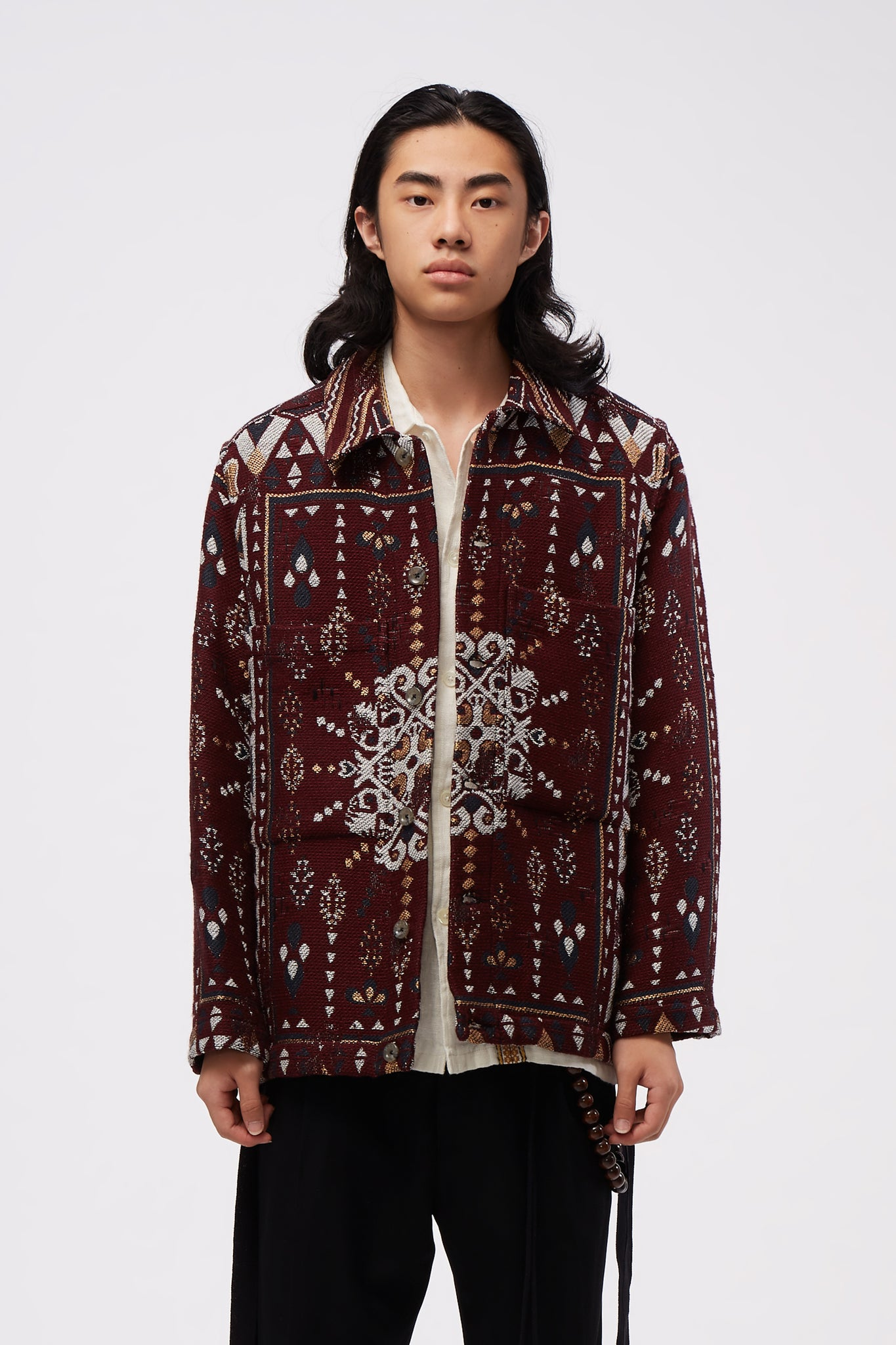Tunnel Patch Pocket Jacket Burgundy