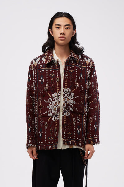 Song for the mute - Tunnel Patch Pocket Jacket Burgundy