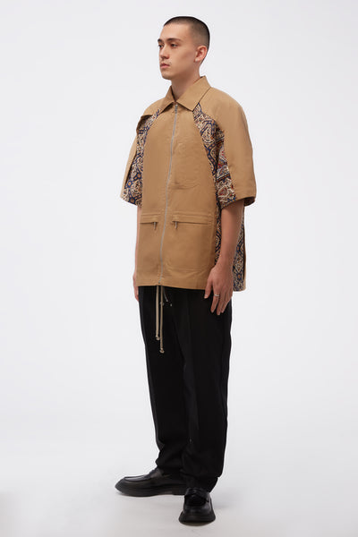 Iranian Camel Pleat Shirt