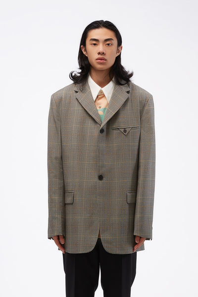 CMMN SWDN - Unstructured SB Blazer Prince of Wales Check