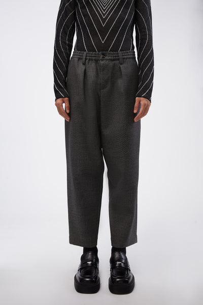 Marni - Elastic Waist Loose Trousers Grey