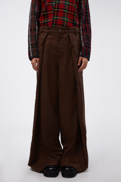 Martine Rose x Farah - Verboten Trouser Friar Brown
