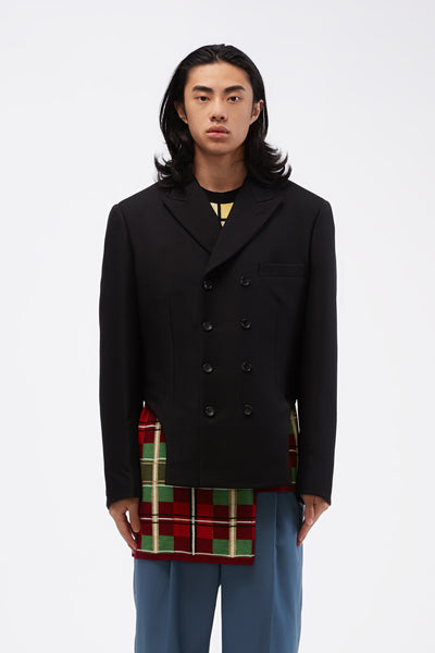 COMME des GARÇONS Homme Plus - Cut-out Side Double-breasted Suit Jacket Black