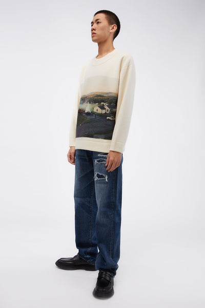 Puddle Leg Pant Denim Blue