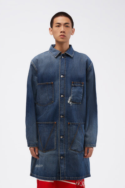 Vyner Articles - Wit Coat In Denim Blue