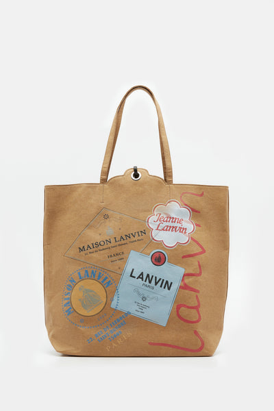 Lanvin - Tote Shopping Bag Beige Light Yellow