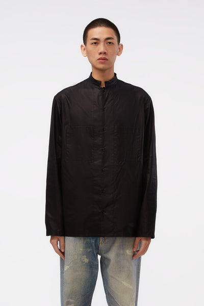 Lemaire - Stand Collar Shirt Black