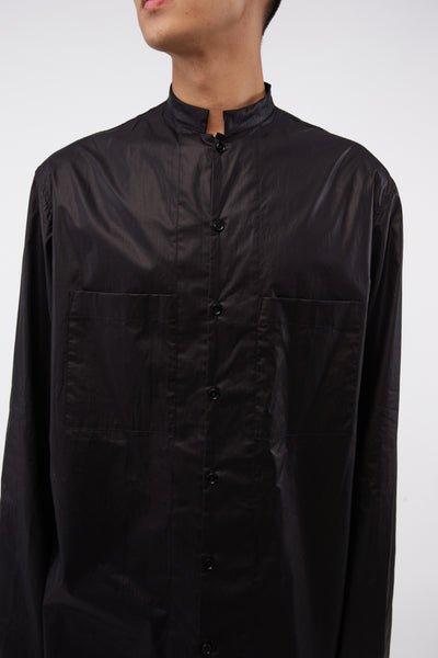Stand Collar Shirt Black