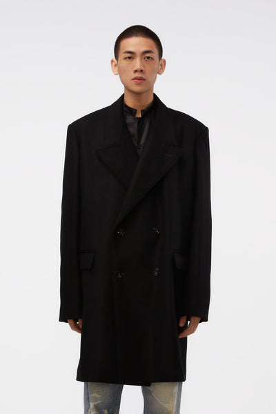Lemaire - Short Double Breasted Coat Black