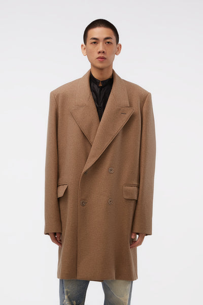 Lemaire - Short Double Breasted Coat Beige