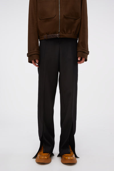 WOOYOUNGMI - Hem Detail Trousers Black
