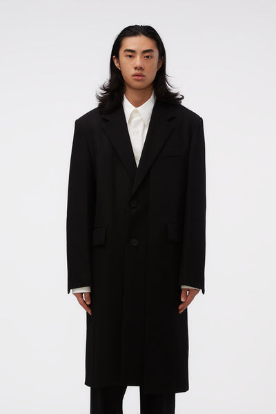 WOOYOUNGMI - Asymmetric Coat Black