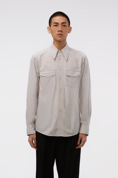Lemaire - Western Shirt White / Beige