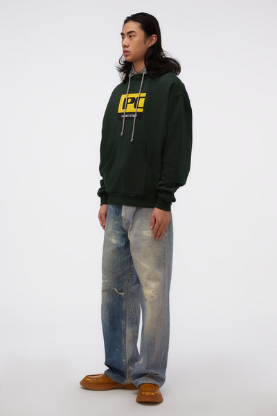 Sweatshirt W/ Hood Green/Grey