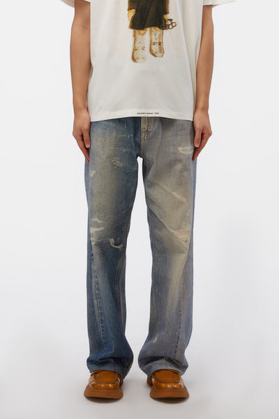 Our Legacy - Third Cut Digital Denim Print Pants