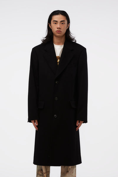 Our Legacy - Dolphin Coat Black Heavy Melton