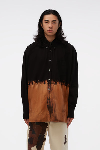 Our Legacy - Borrowed Bd Shirt Black Tie Dye Heavy Poplin