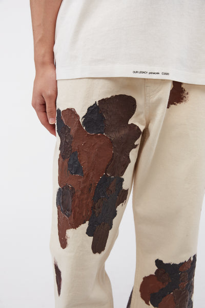 Formal Cut Cracked Color Pants