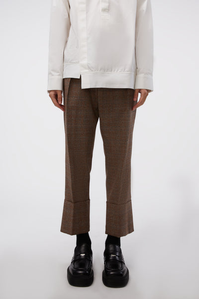 WOOYOUNGMI - Cabra Trousers Brown Check