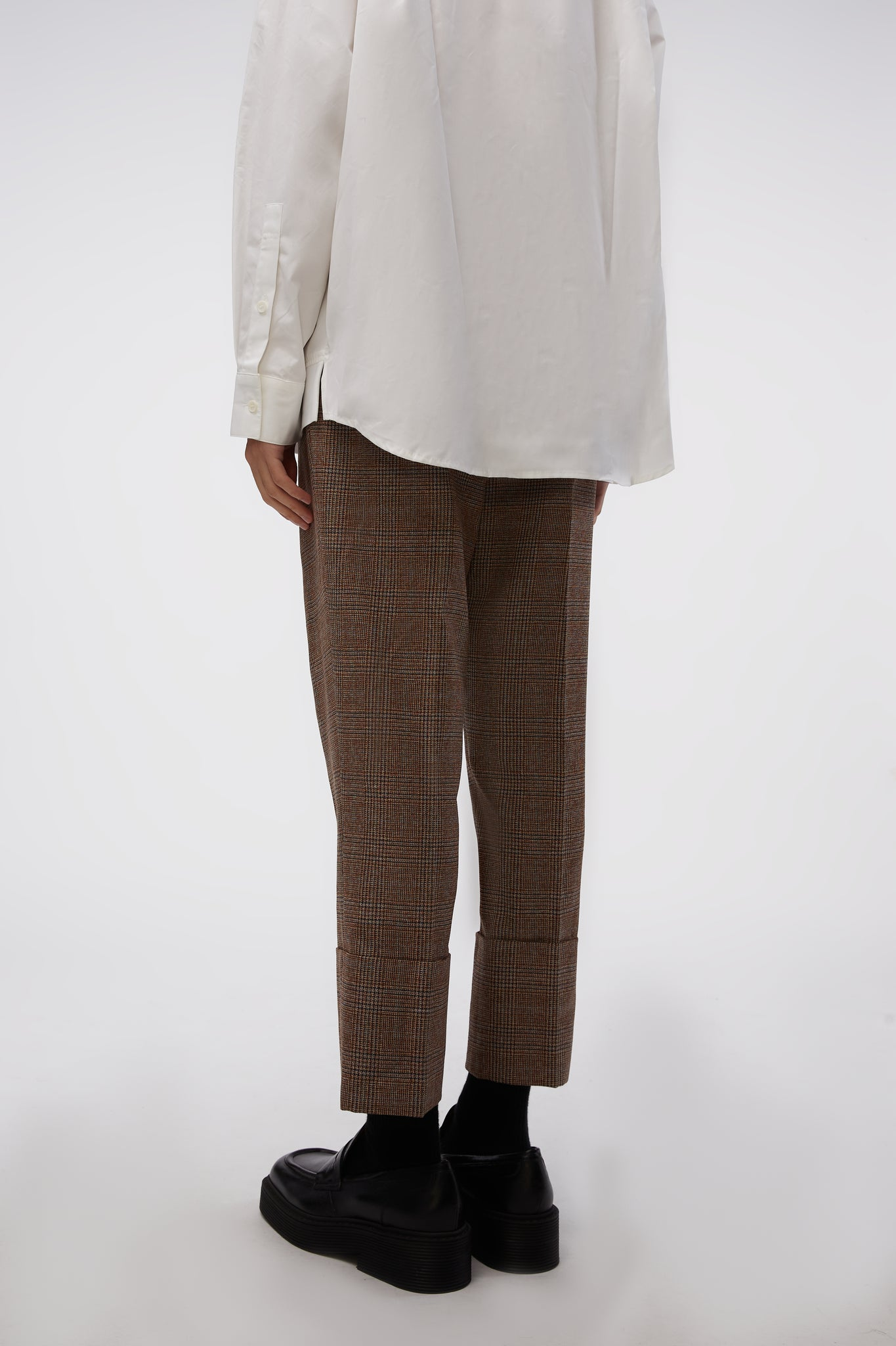 Cabra Trousers Brown Check