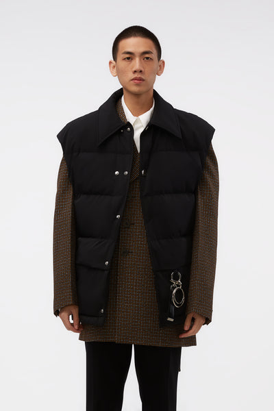 WOOYOUNGMI - Oversized Down Vest Black